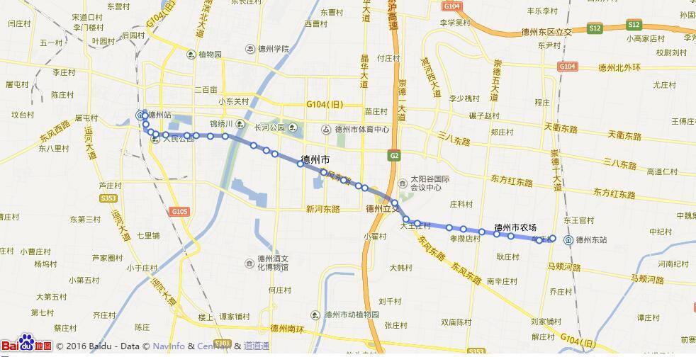 医药大楼 →新湖风景区 →十三局医院 →汽车配件城 →锦绣川风景区