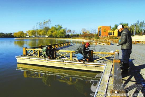 德州长河公园添新灯 亮化工程月底可完工